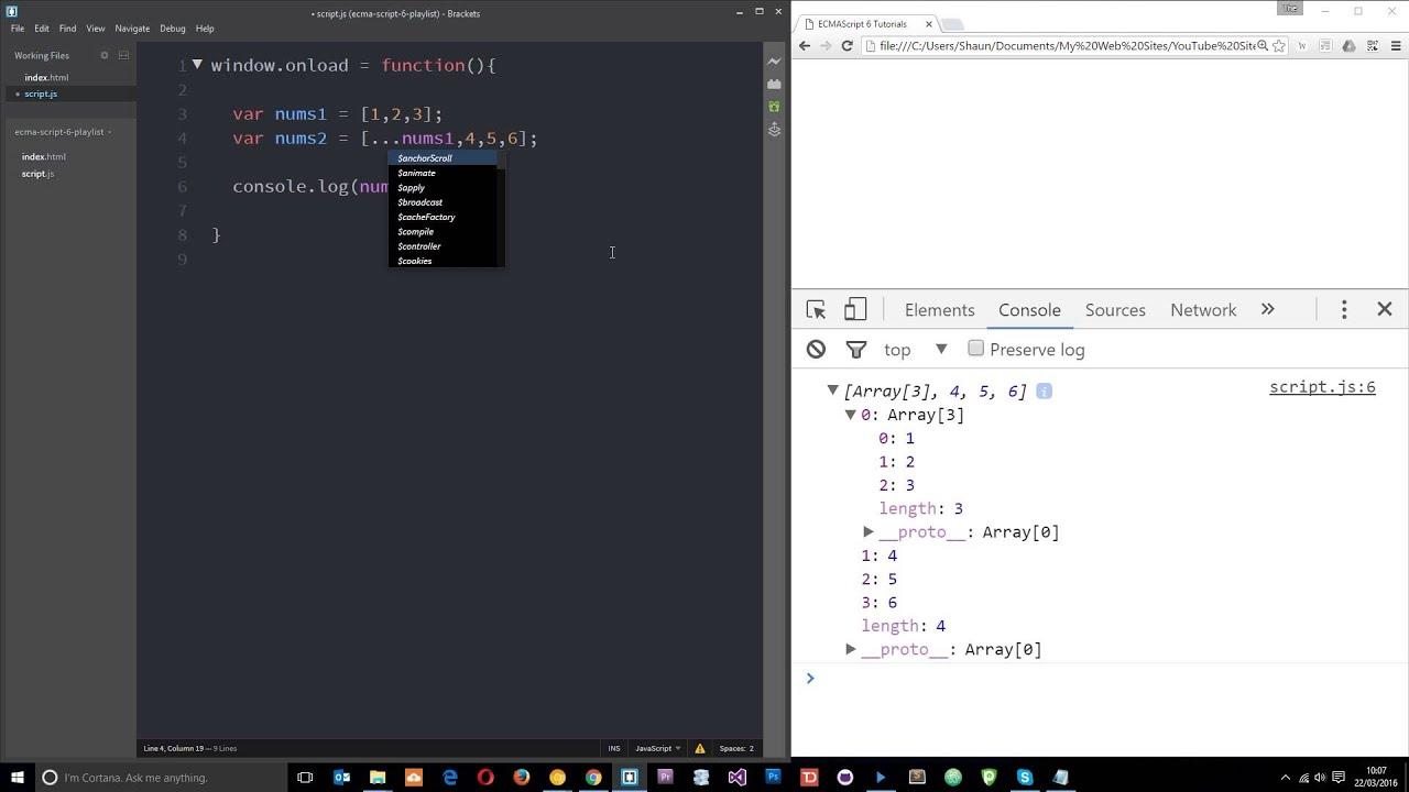 JavaScript ES20 Tutorial 20   The Spread Operator