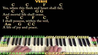 Amazing Grace (HYMN) Piano Cover Lesson in C with Chords/Lyrics