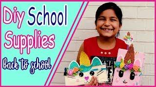 DIY Unicorn School Supplies! Learn How To Make Cutest Unicorn Crafts for kids  Aishmin Diy