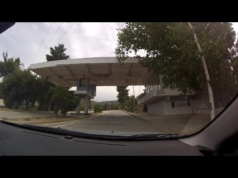 Driving on Xilokastro - Trikalon road and National Road 8A from Rethi to Derveni - onboard camera