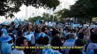 """""""BRASIL DECIME QUE SE SIENTE"""" CON LETRA  HD - """"Hit"""" de los Hinchas Argentinos en Brasil"""