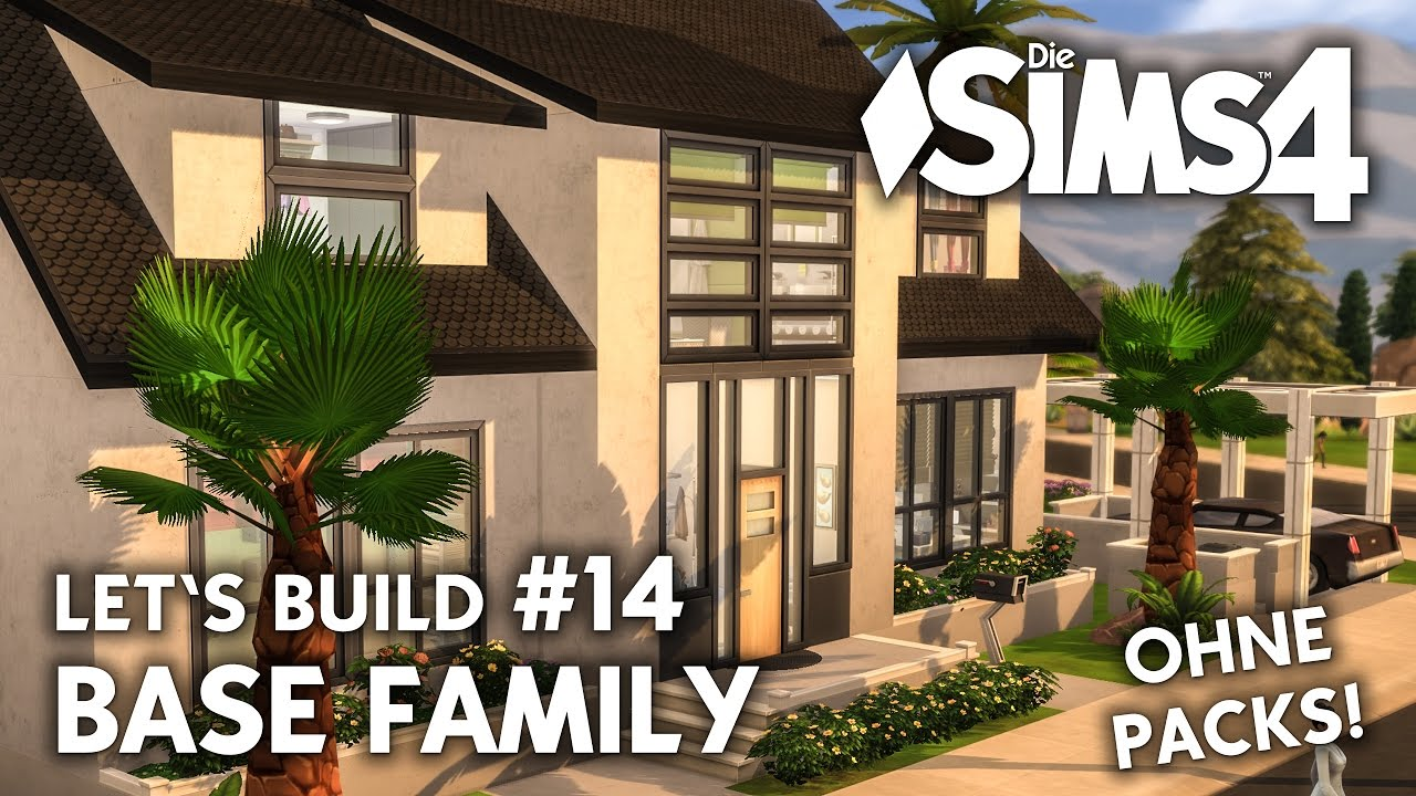 Die Sims 4 Haus Bauen Ohne Packs Base Family 14 Front Bad