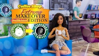 DIY  How to Make: Extreme Makeover Doll Coffee Shop