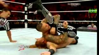 Amazing RKO sell by heath Slater - Randy Orton returns - WWE RAW 07/30/12 - (HQ)