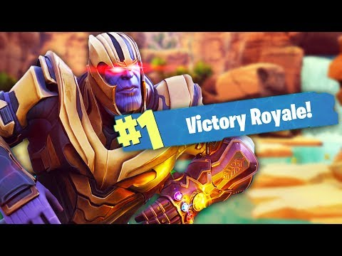 OWNING THANOS IN FORTNITE | Fortnite Battle Royale (Thanos Mode)