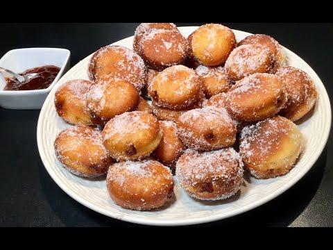 recette-pour-le-goÛter-de-beignets-faciles-À-faire-les-mini-beignets-À-la-confiture-de-fraise