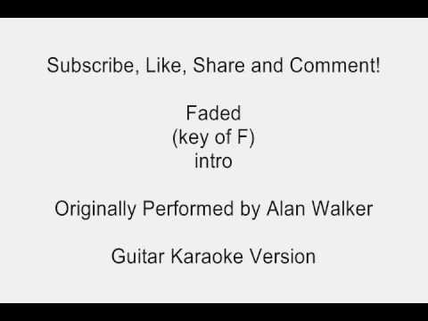 Faded by Alan Walker Guitar Karaoke