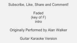Faded by Alan Walker Guitar Karaoke
