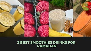 Three Refreshing Ramadan drinks for Iftar and Suhoor Nazkitchenfun 🍊🍓