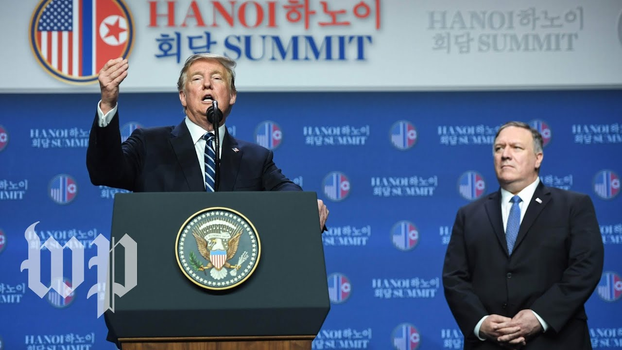 Trump's full news conference from Hanoi after the summit with Kim Jong Un