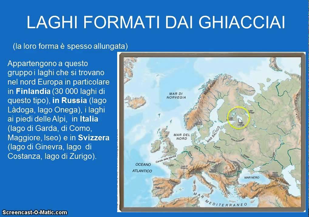 Cartina Europa Fisica Con Fiumi.Europa Fisica Seconda Parte Youtube