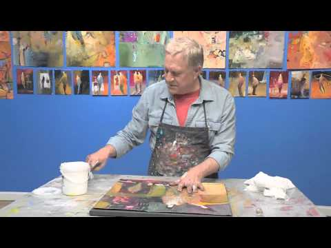How to Use a Canvas and Glue to Mount a Painting