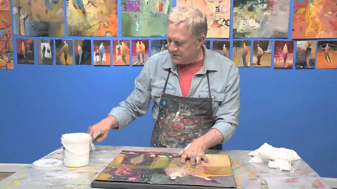 How to use a canvas and glue to mount a painting youtube how to use a canvas and glue to mount a painting jeuxipadfo Images