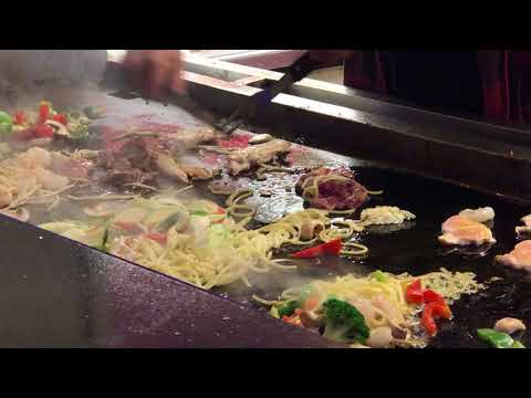 Asian Stir Fry On Hot Grill - Free Stock Footage