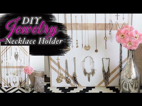 Jewelry organizer-NECKLACE Holder- DIY