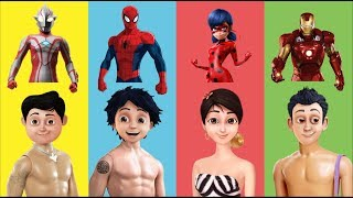 Download Video Wrong Dress Shiva ANTV Ironman Ladybug Spiderman Ultraman Ribut Finger Family Nursery Rhyme for Kids MP3 3GP MP4