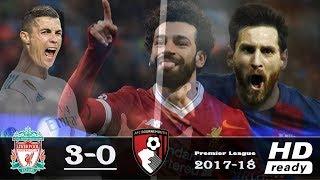 Salah beats Messi and breaks Ronaldo League record ♦ Liverpool vs Bournemouth 3-0 Goals