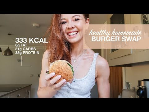 LOW CALORIE BURGER RECIPE | SUPERMARKET SWAPS | Emily Ricketts