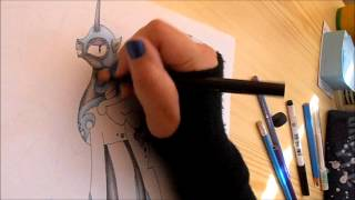 MLP speed drawing - Nightmare Moon