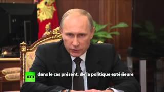 Poutine : «Nous trouverons les terroristes, où qu'ils soient sur la planète et les châtierons»
