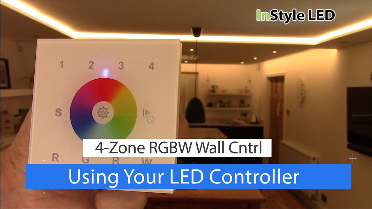 How To Use Your 4 Zone Rgbw Wall Controller Led Strip Lights Youtube Wiring Zones Kitchen