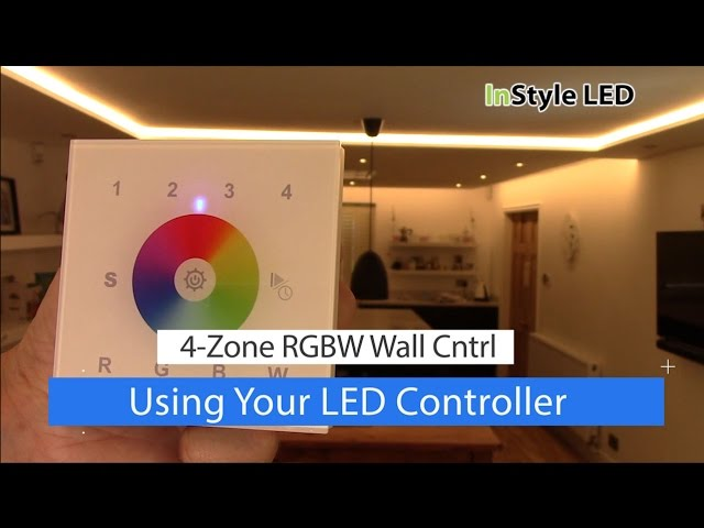 How to use your 4-zone RGBW wall controller - LED strip lights