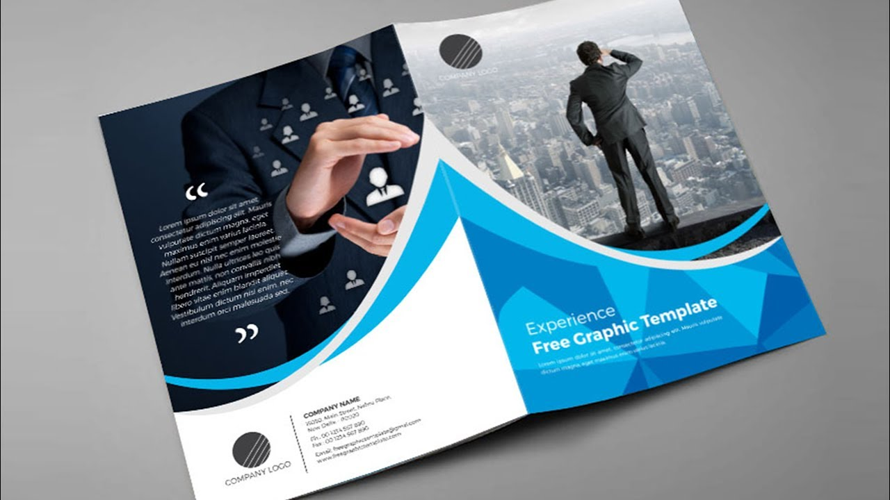 How to design bi fold brochure brochure design in for Bi fold brochure template indesign free