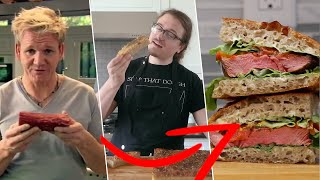 I COMBINED Gordon Ramsay and Joshua Weissman&#39s Recipes to Make the BEST Steak Sandwich Ever