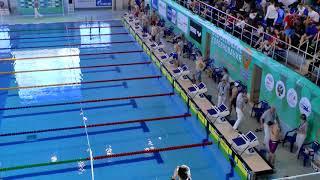 """""""Всероссийские соревнования по плаванию среди юношей и девушек (25м)"""", 50m На спине,"""