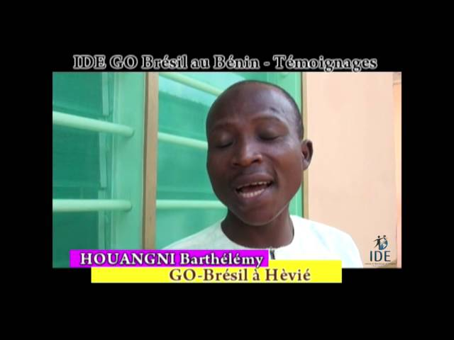 Testemunho Houangni Projeto Benin - IDE GO