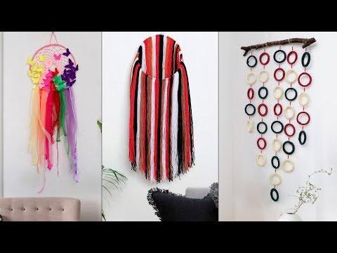 8 Creative Home Decor Wall Hanging Ideas !!! Beautiful DIY Craft Ideas