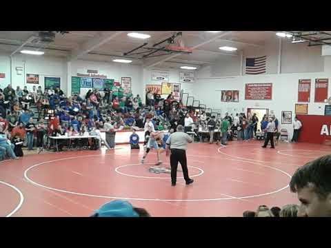 Cameron Owens Findlay High Wrestler Vs. Montpelier High 12.9.2017