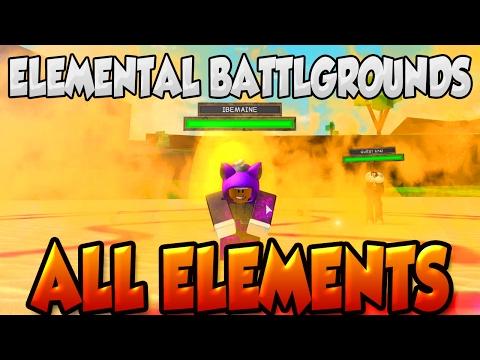 ELEMENTAL BATTLEGROUNDS | ALL ELEMENTS & MOVES! | ROBLOX