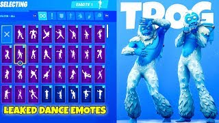 *NEW* YETI SKIN With All NEW Dance Emotes..! (50+ Emotes With Trog) Fortnite Battle Royale