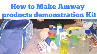 How to make Amway products  Demonstration Kit