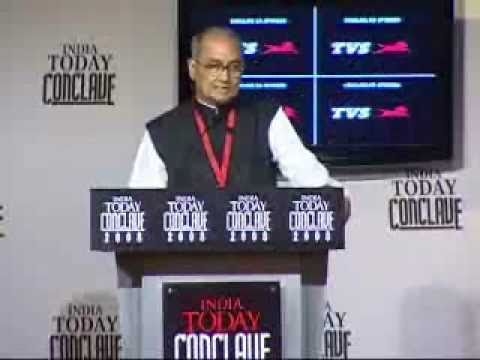 Farooq Abdullah speech at India Today Conclave 2008