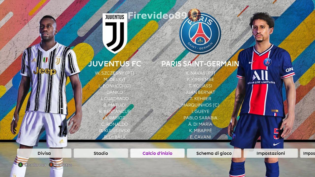 Pes 2020 2021 Juventus Vs Paris Saint Germain Dejan