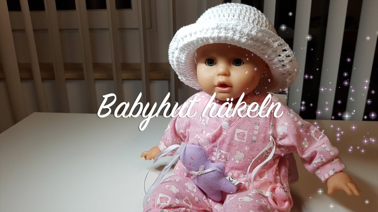 Hut häkeln für Babys | Kindermütze häkeln | Häkelmädel - YouTube