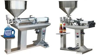 Full Air Piston Filling Machine For Sauce Paste Butter Grease With Hopper&table Stand كريم ملء آلة