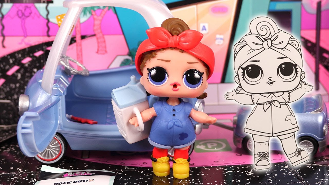 video Voiture poupée LOL surprise avec Can Road baby- Furniture Road