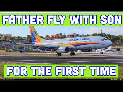 JAMAICAN PILOT DAD FLY WITH HIM FOR THE FIRST TIME!