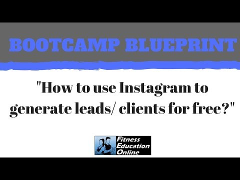 Bootcamp blueprint episode 3 how to use instagram to generate bootcamp blueprint episode 3 how to use instagram to generate leads clients for free malvernweather Image collections