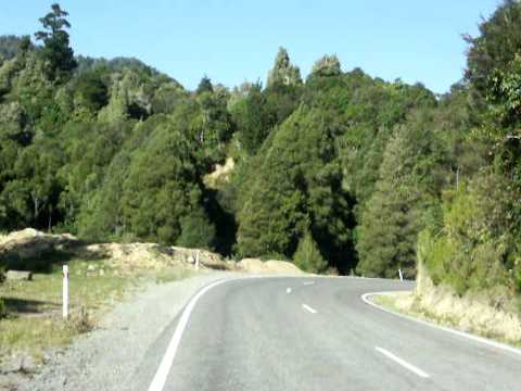 New Zealand North Island Te Urewera National Park Car Ride