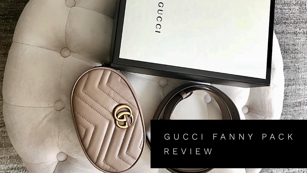 884426d881a3 GUCCI GG MARMONT MATELASSE LEATHER BELT BAG REVIEW | GUCCI FANNY PACK
