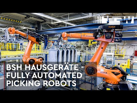 BSH Hausgeräte - Fully automated picking robots by TGW Robotics (english)