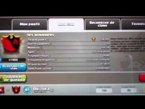 Clash of clan le super clan les winnners