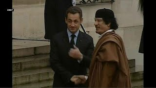 Police question Sarkozy over alleged Libyan campaign financing thumbnail