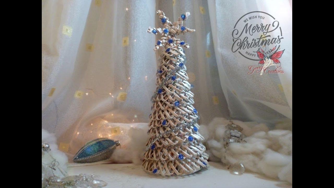 Albero Di Natale Con Cannucce Di Carta.Albero Di Natale Di Cannucce Di Carta