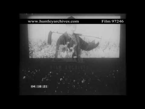Trianon cinema frontage, 1950's.  Archive film 97246