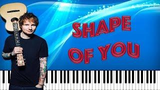 Shape of You - Ed Sheeran (Tutorial Piano Midi Partitura Gratis)